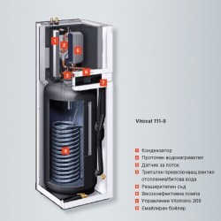 Термопомпа Vitocal 111-S за отопление и охлаждане